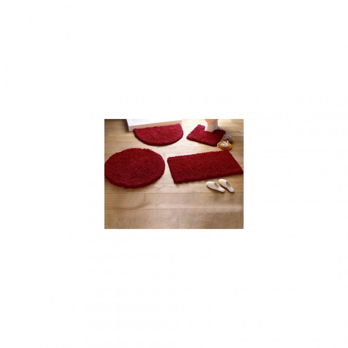 Linge De Maison Bordeaux tapis de bain coton longues mèches 1500g/m2 - bordeaux 2 avis plus de  détails