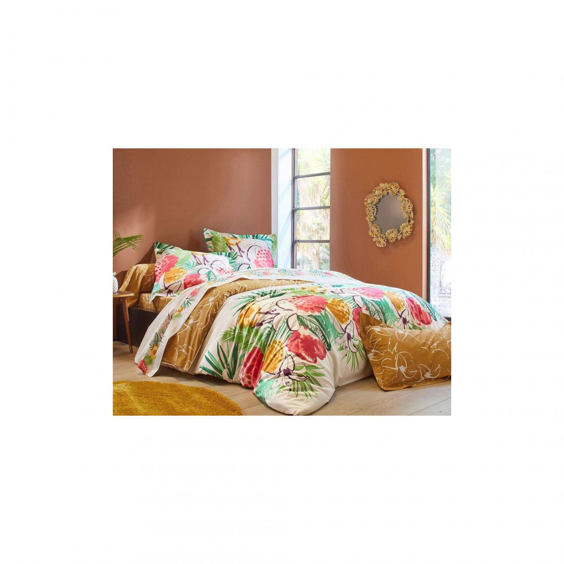 Housse De Couette Fleurs Exotiques Becquet Multicolore