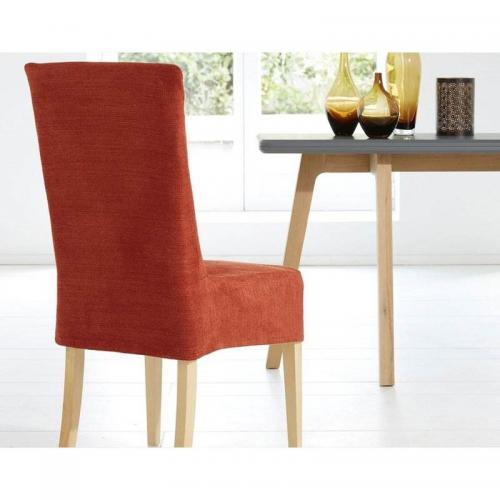 Becquet - Housse de chaise en velours Becquet - Orange - Linge de maison