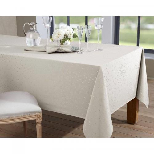 Becquet - Lot de 3 serviettes de table décor pois Becquet - Beige - Linge de maison