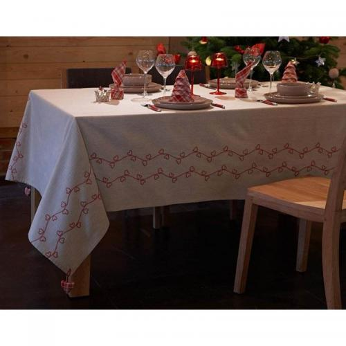 Becquet - Lot de 3 serviettes carreaux - Serviette de table