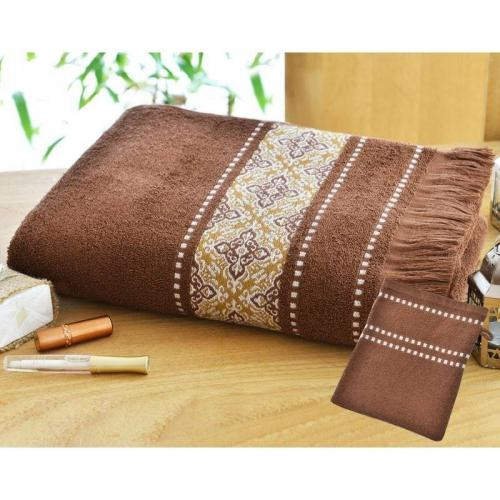 Becquet - Lot de 2 gants inspiration hammam 420gm2 - Marron - Gant de toilette