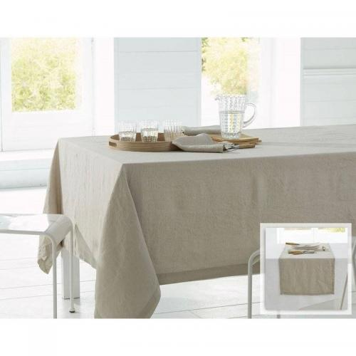 Becquet - Lot de 3 serviettes en lin lavé Becquet - Beige - Serviette de table