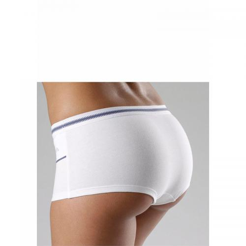 Bench - Shorty coton stretch Bench - Blanc - Bleu - Promotions Sous-vêtements femme