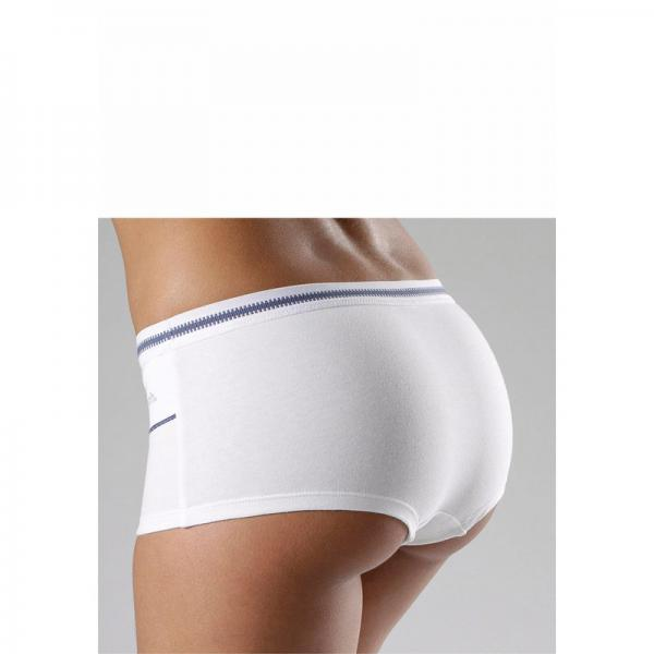 Shorty coton stretch Bench - Blanc - Bleu Bench Lingerie femme