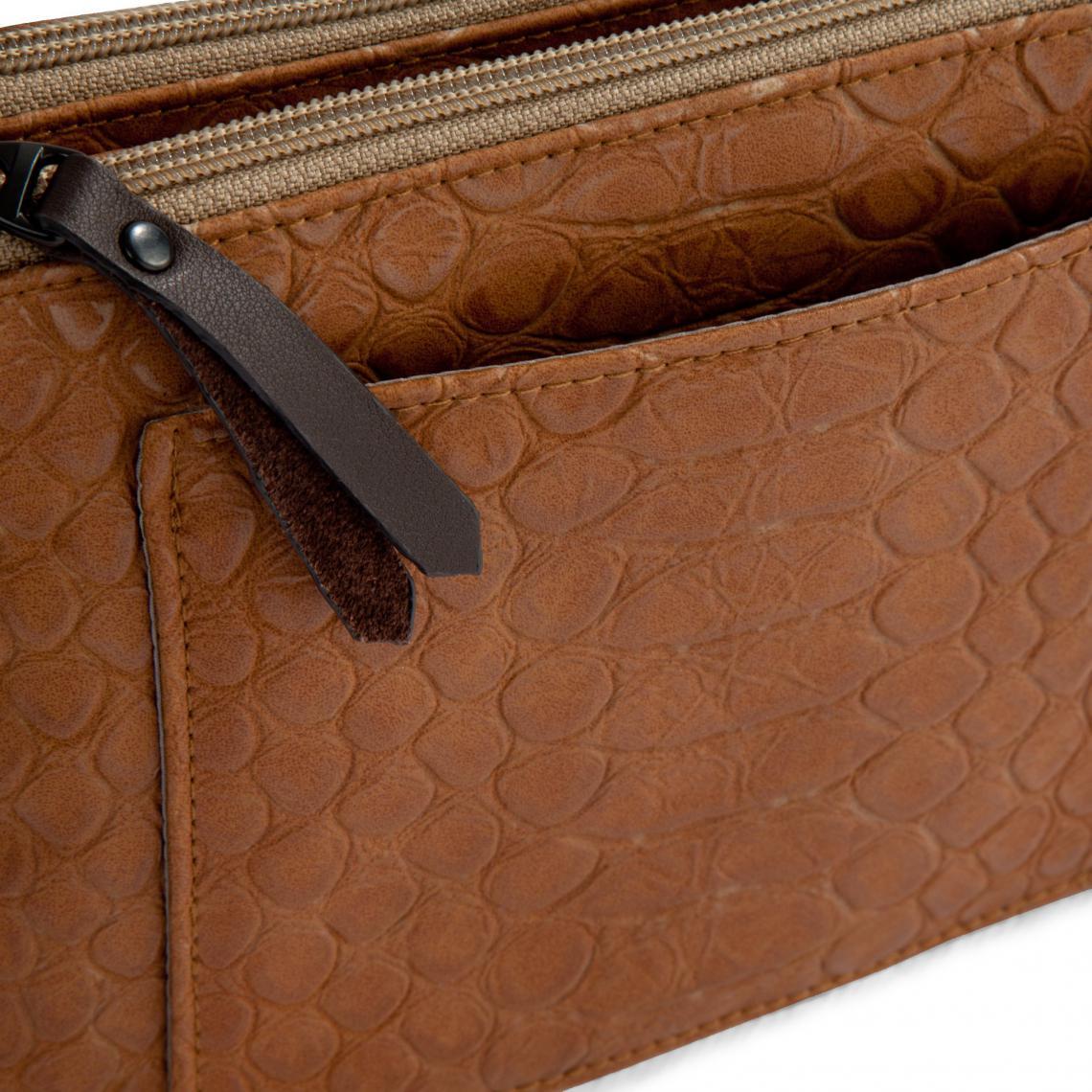 f02bc44a7c5f9d Mini bag matiére synthétique peau de reptile femme Bensimon - Beige ...