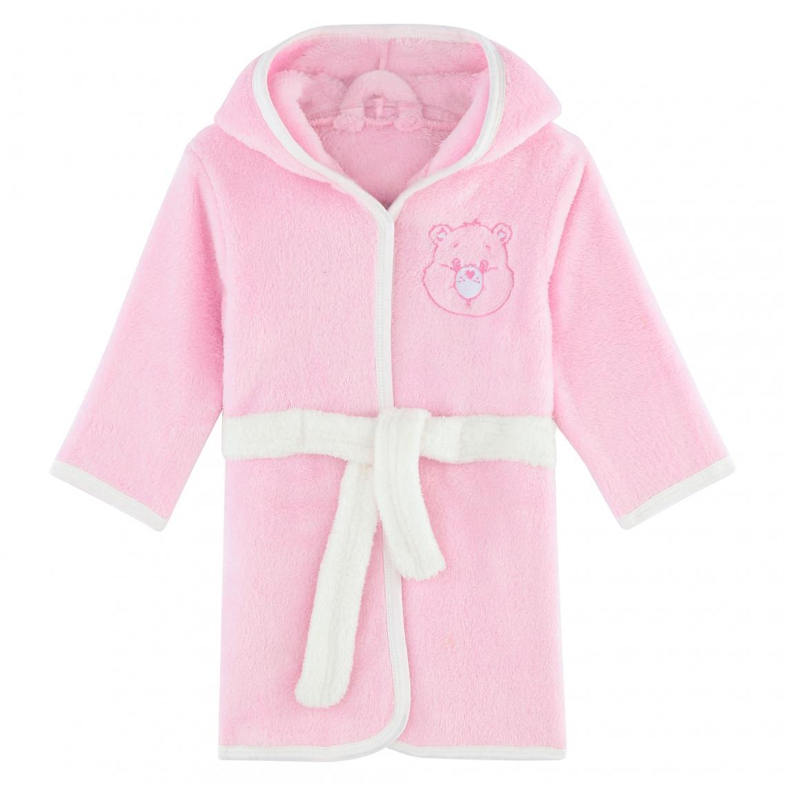 Robe de chambre � capuche fille Bisounours - Rose - 3Suisses