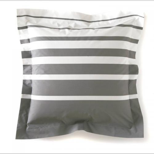 9db4381a1384b0 Blanc des Vosges - Taie d oreiller ou de traversin percale de coton imprimé  Grand