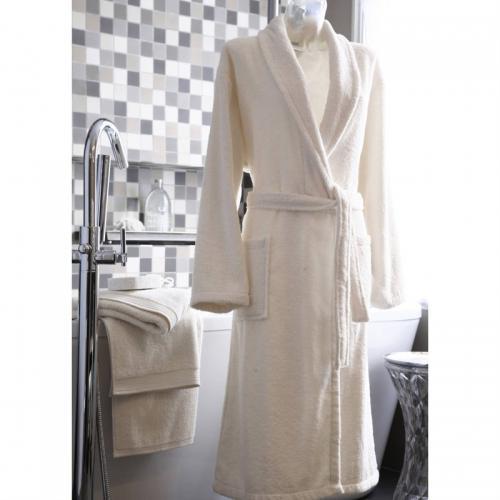 069d65c06d Blanc des Vosges - Peig bain col châle coton 420 grm² unisexe Blanc des  Vosges -