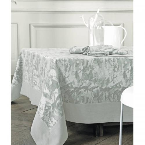 Blanc des Vosges - Set de table coton jacquard Carrare Blanc des Vosges - Gris - Linge de maison Made in France