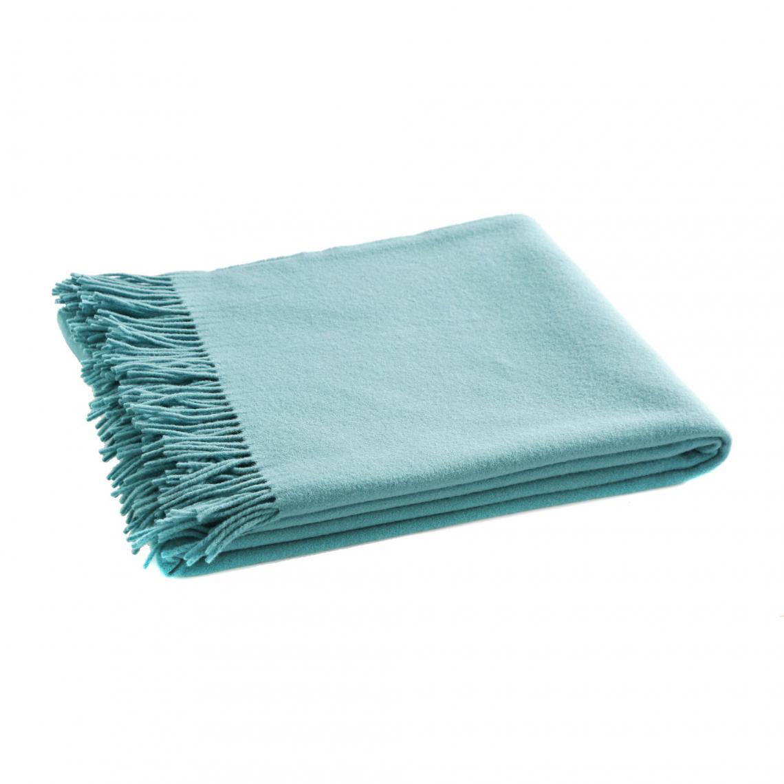 4a0de073f4a0 Plaids laine Blanc des Vosges Cliquez l image pour l agrandir. Plaid uni  Cuba en pure laine vierge Mérinos ...