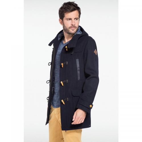 manteau dufflecoat capuche bleu marine homme 3 suisses. Black Bedroom Furniture Sets. Home Design Ideas