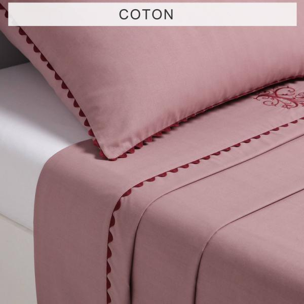 Drap 1 ou 2 personnes MA Bouchara Collection - Rose Bouchara Collection Linge de maison