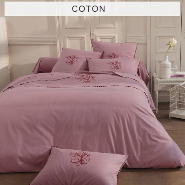 Housse de couette Ma Bouchara Collection - Rose Bouchara Collection Linge de maison