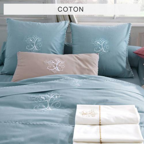 Bouchara Collection - Housse de couette pur Coton BOUCHARA COLLECTION Ma - Bleu - Promos Linge de Maison