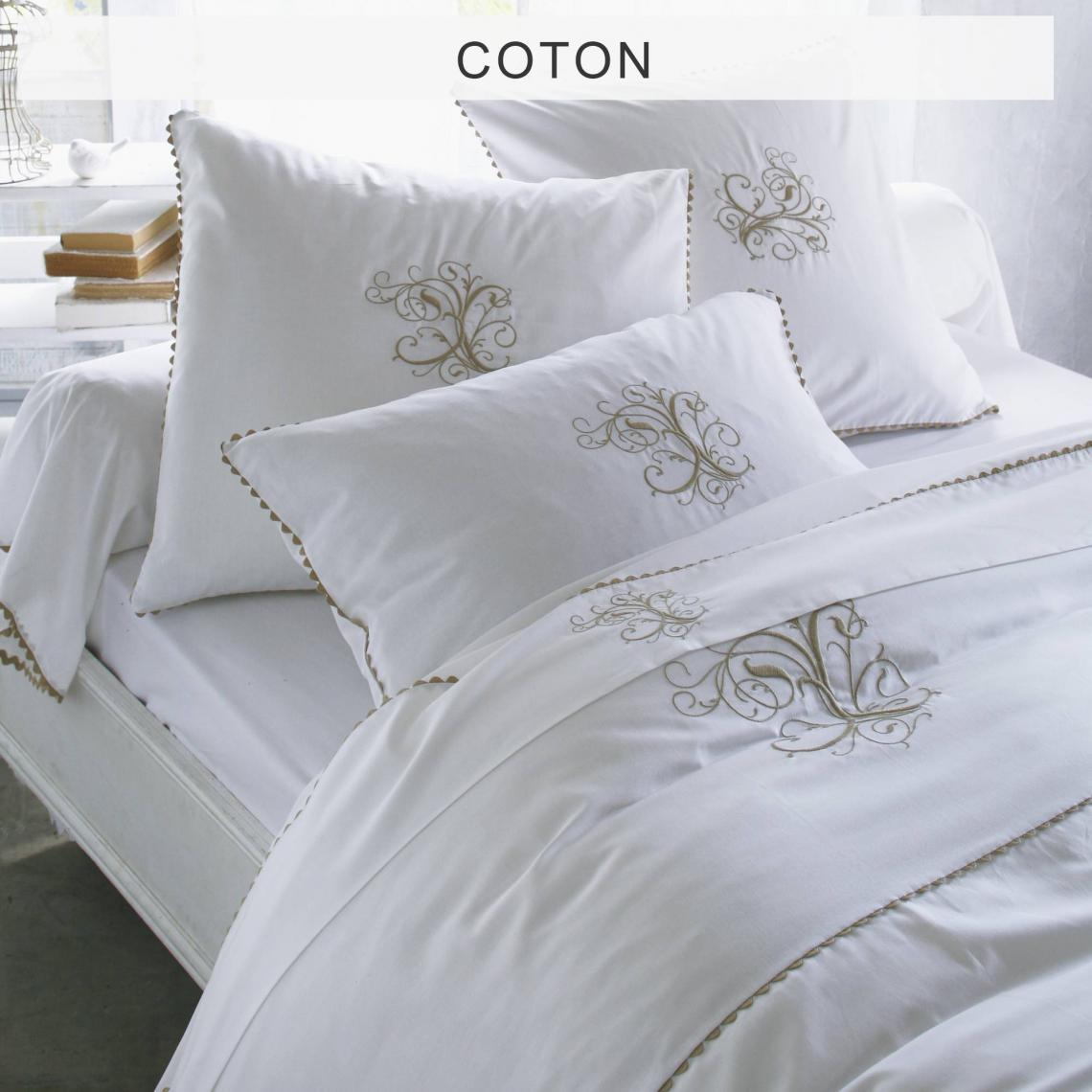 Housse De Couette Pur Coton Ma Bouchara Collection Blanc 7 Avis