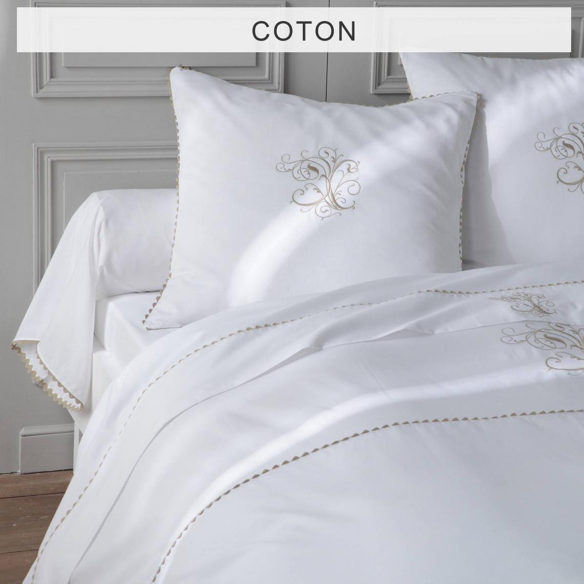 housse de couette pur coton ma bouchara collection blanc. Black Bedroom Furniture Sets. Home Design Ideas
