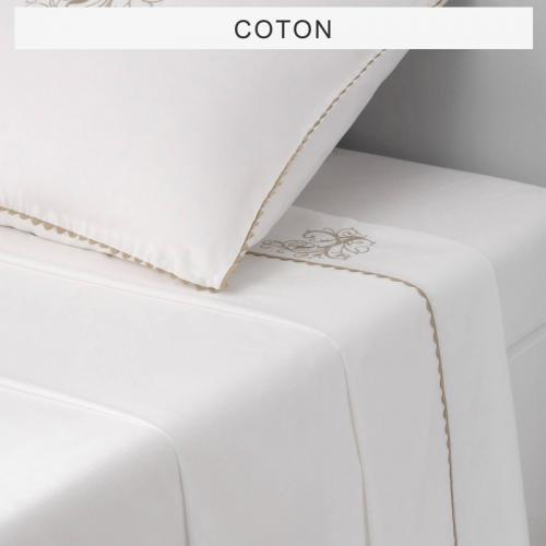 Bouchara Collection - Drap 1 ou 2 personnes pur coton MA Bouchara Collection - Blanc - Linge de maison