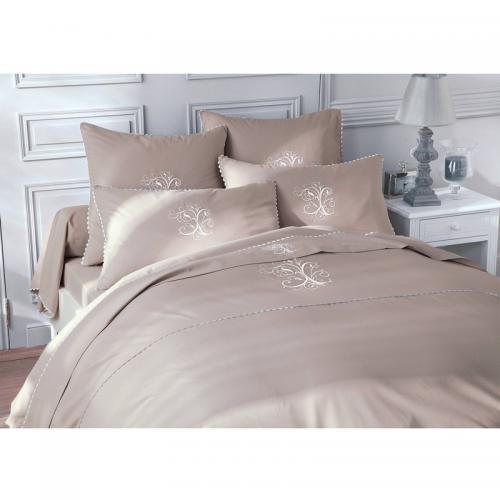 Bouchara Collection - Drap-housse 1 ou 2 personnes pur coton BOUCHARA COLLECTION Ma - TAUPE - Linge de maison