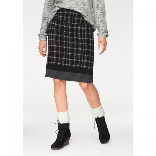 Boysen s - Jupe femme longueur genou à carreaux BOYSEN S - Noir - Gris - Jupes  courtes de5a65b2259c