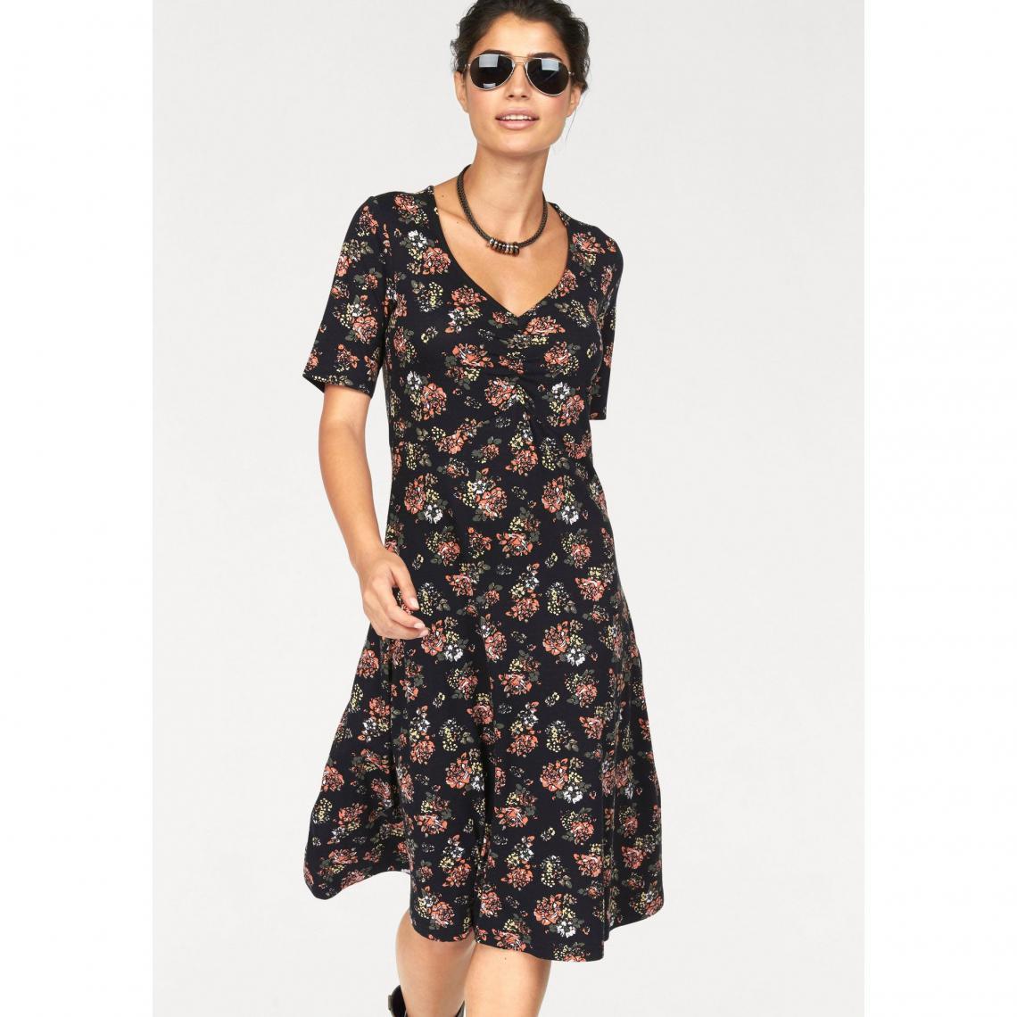 c042b5c79c5 Robe imprimé fleuri col V manches courtes stretch femme BoyseN s -  Multicolore Boysen s Femme