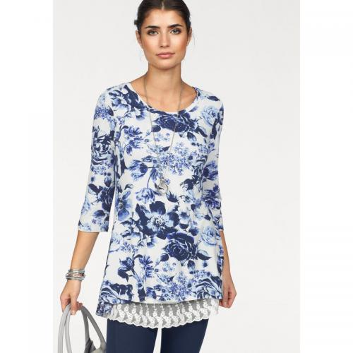 c3ecb6b0c814 Boysen s - T-shirt manches 34 imprimé floral femme BoyseN s - Blanc - T-