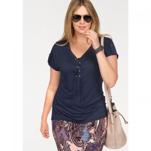 007a3be58274 Boysen s - T-shirt col rond manches courtes femme Nike - Bleu - T-