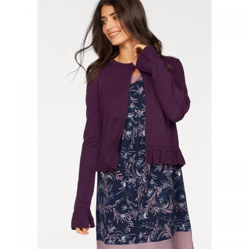 Boysen's - Cardigan col rond manches longues femme BoyseN's - Aubergine - Promotions
