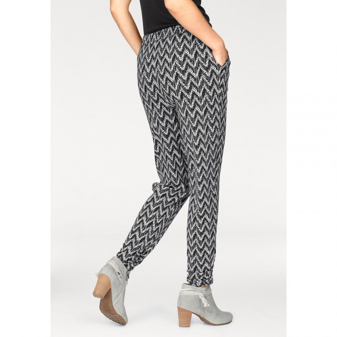 ea414f920d5b Pantalon imprimé graphique taille élastiquée femme BoyseN s ...