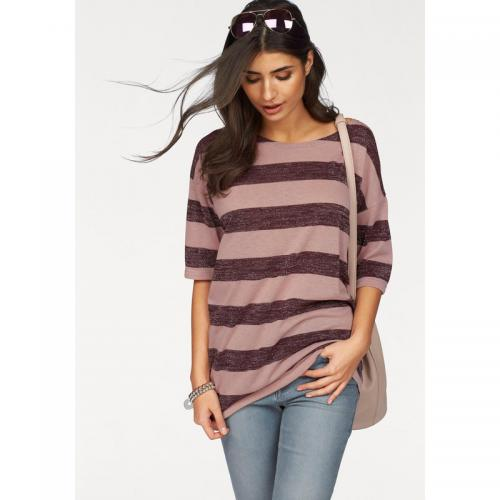 Boysen's - T-shirt long rayé femme Boysen's - Rose - Bordeaux - Boysen's