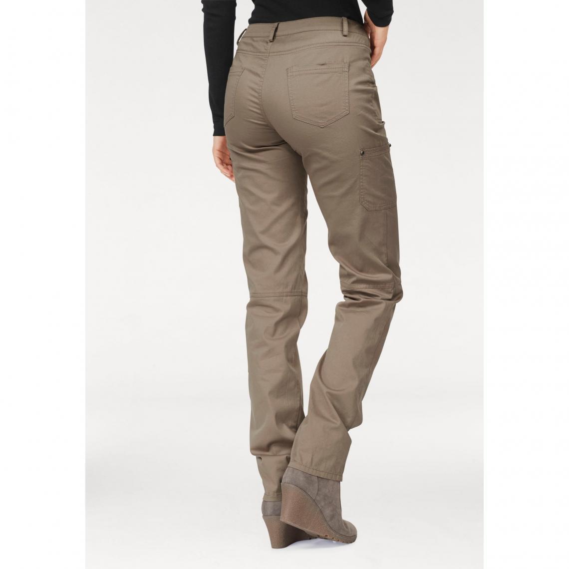 grandes variétés style exquis choisir véritable Pantalon cargo coton/stretch femme Boysen's - Marron | 3 SUISSES