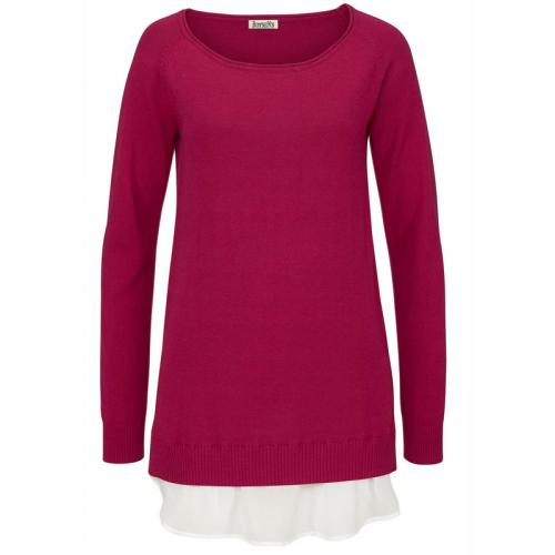 Pull mi-long col rond manches longues femme Boysen's - Rose Boysen's