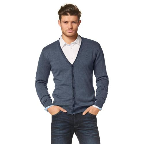 Bruno Banani - Gilet boutonné à manches longues homme Bruno Banani - Pull / Gilet / Sweatshirt