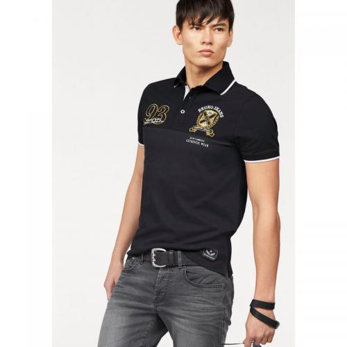 Bruno Banani - Polo manches courtes badges broderie et applications maille piquée homme Bruno Banani - Noir - T-shirt / Polo