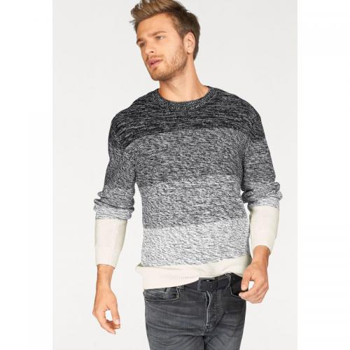 Bruno Banani - Pull rayé col rond en maille chinée homme Bruno Banani - Multicolore - Vêtements homme