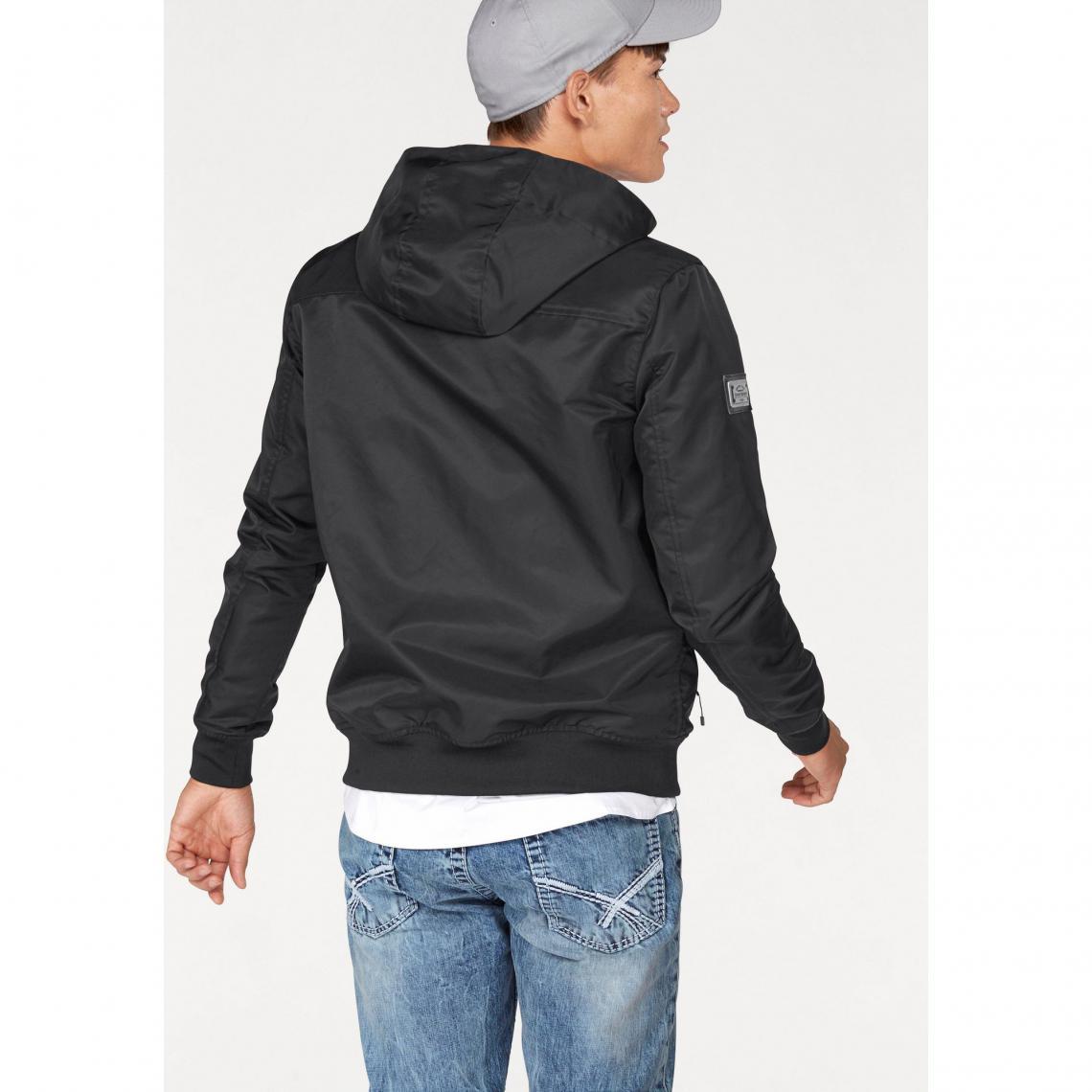 sordide achat veste capuche homme noir -