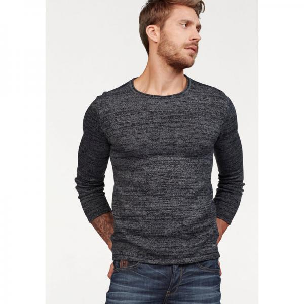 Pull col rond homme Bruno Banani - Noir Chiné Bruno Banani Homme