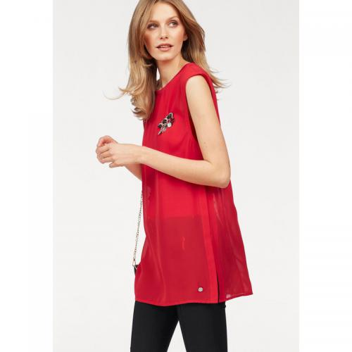 Bruno Banani - Blouse fluide manches courtes avec top assorti femme Bruno Banani - Rouge - Blouse, chemise