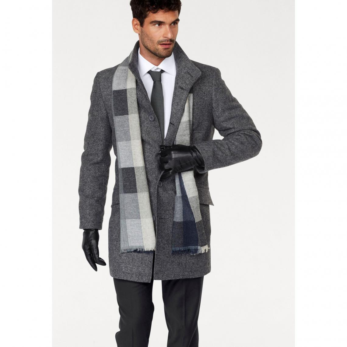 Manches Bruno Anthracite Manteau Longues Gris Chiné Banani Homme xO5FIw