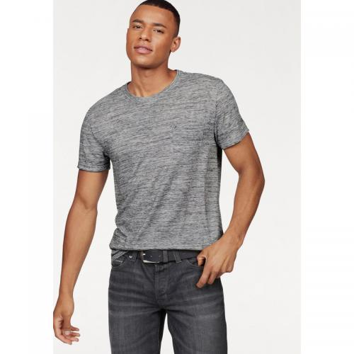 Bruno Banani - T-shirt manches courtes homme Bruno Banani - gris chiné - T-shirt / Polo