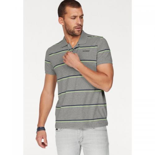 Bruno Banani - Polo fines rayures manches courtes homme Bruno Banani - Gris Clair Chiné - Promos vêtements homme