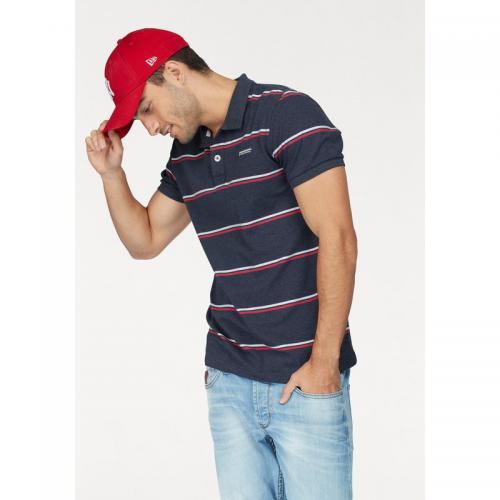 Bruno Banani - Polo fines rayures manches courtes homme Bruno Banani - bleu chiné - Promos vêtements homme
