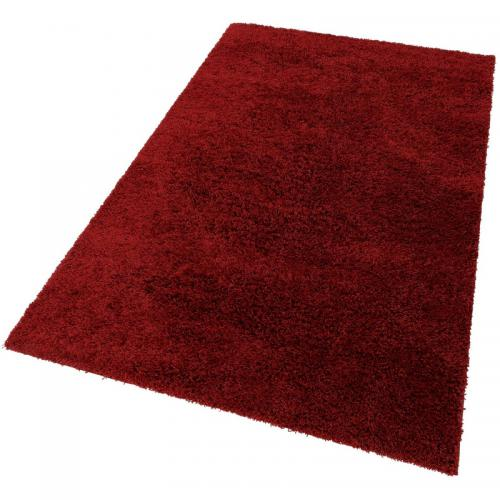 Bruno Banani - Tapis rectangulaire à mèches hautes façon shaggy my Home - Rouge - Tapis