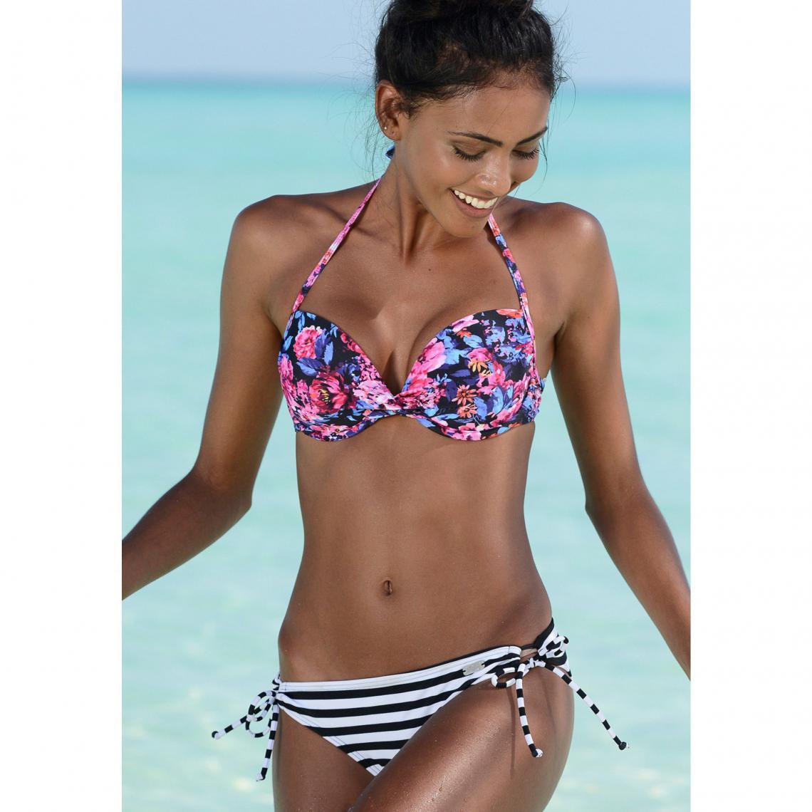 Soutien-gorge de maillot de bain push-up femme Buffalo - Noir Buffalo Femme 9fa38903a06