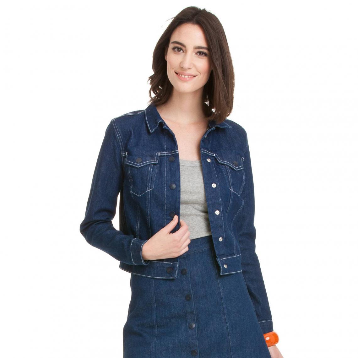 Veste en jean femme Reblc Calvin Klein - brut vintage Calvin Klein Jeans  Femme f63db24c9205