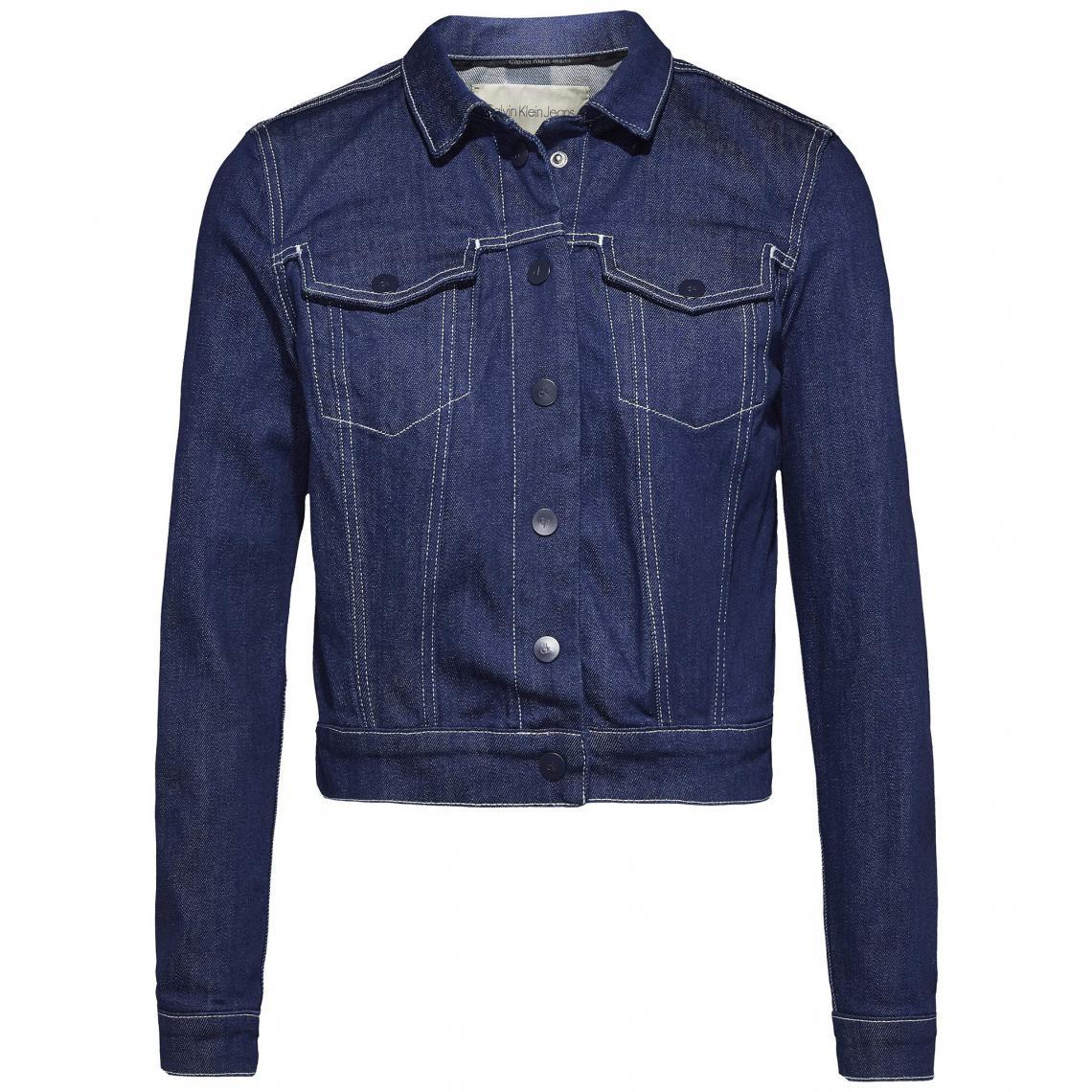 Veste en jean femme Reblc Calvin Klein - brut vintage Calvin Klein Jeans 6ec584e87909