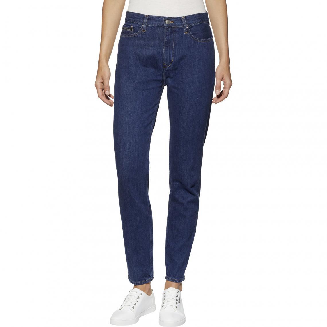 Jean skinny taille haute L32 - Denim Brut - Calvin Klein - Modalova
