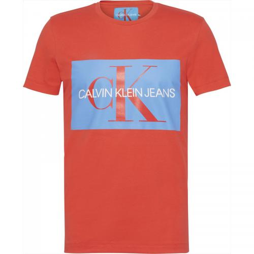 Manches Calvin Shirt T Klein Courtes Homme Rouge FKJc3Tl1