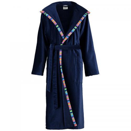 67653f2a2e Cawo - Peig de bain long uni col châle en velours femme Cawö - Bleu -
