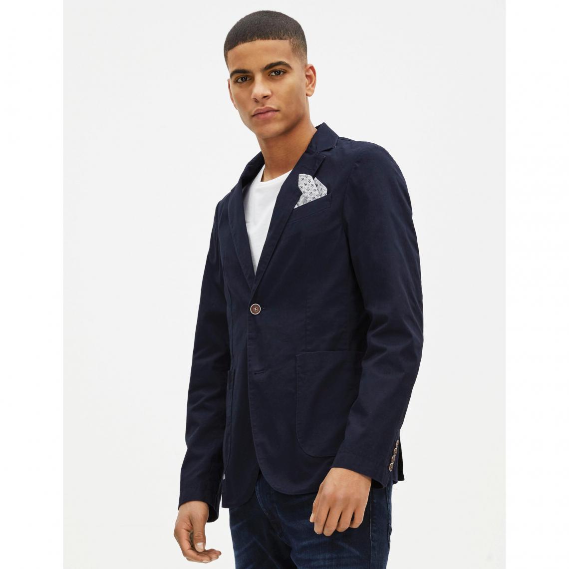 85e1b6724bd2b Veste blazer homme Guone Celio - Bleu Marine | 3 SUISSES